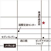 南壽あさ子 × アリオト 弾き唄いワンマン tour2014『七つ星』岡山会場マップ